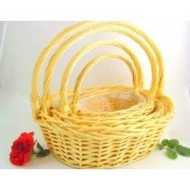 GIANT WILLOW S/4 OVAL BASKETS X11322