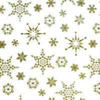 GOLD SNOWFLAKES FILM FF3575