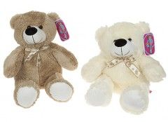 "18"" LONG PILE PLUSH BEAR CREAM  441052C out of stock"