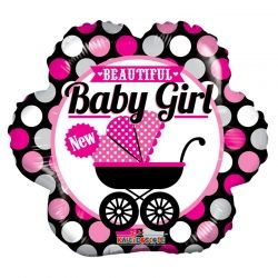 "BABY GIRL BALLOON  18"" 19732-18"