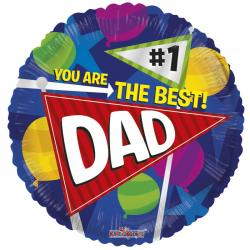 "BEST DAD BALLOON 18"" 86086-18"