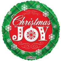 "CHRISTMAS JOY BALLOON 18"" 89123-18"