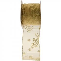 GOLD WIRED EDGE RIBBON RI7148