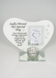 HEART PLAQUE DOG DF17396
