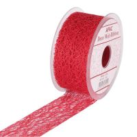 RED DECO WEB RIBBON  RI7338