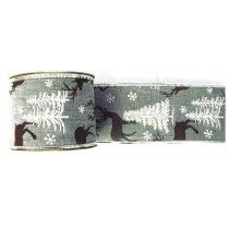 XMAS GREY DEER RIBBON  CHR055