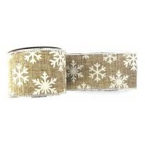 XMAS NATURAL SNOWFLAKE RIBBON   CHR040