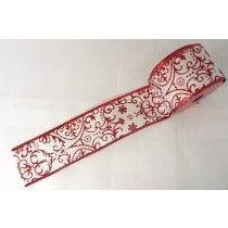 XMAS RIBBON RED/WHITE   CHR026